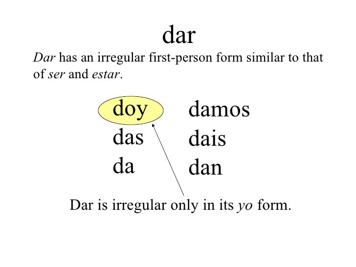 4 the verbs decir and dar