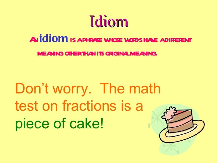 Idiom poems examples.