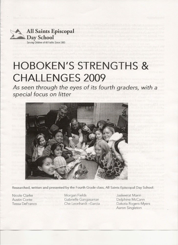 ~        All Saints Episcopal ~DaySchool          Serving Children of All Faiths Since 1985         HOBOKEN'S STRENGTHS & ...