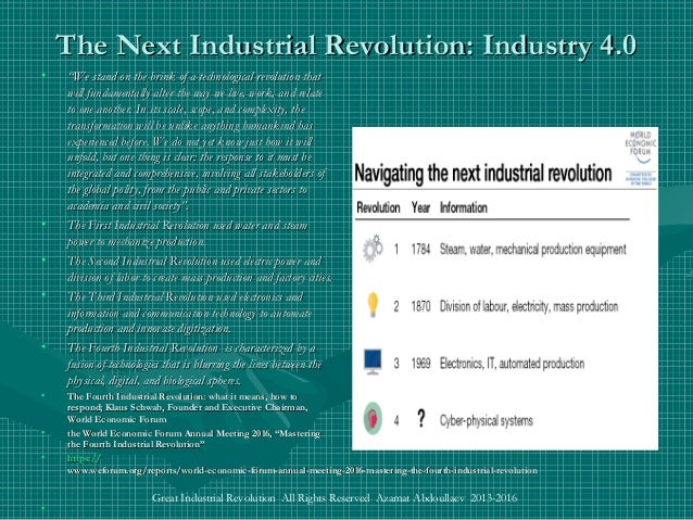 the great revolution of the it industry Changes in industry were so great that the period after 1860 has been called the  the second industrial revolution marked great progress in the methods of.