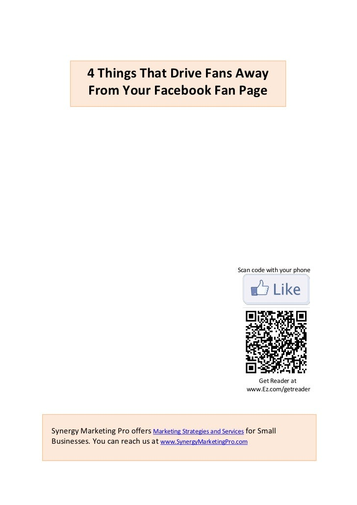 4 Things That Drive Fans Away           From Your Facebook Fan Page                                                       ...