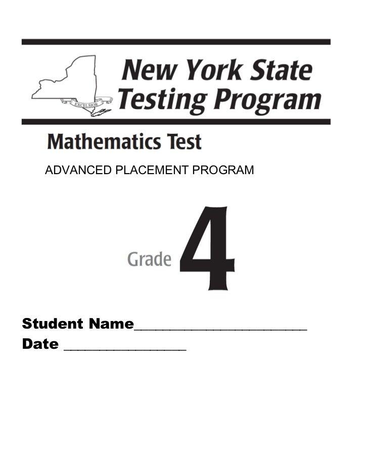 4th math advanced placement program