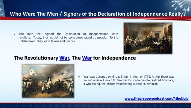 Who Were The Men / Signers of the Declaration of Independence Really? The men that signed the Declaration of Independence ...