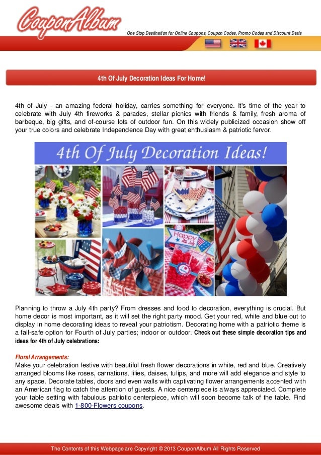 4th of July ­ an amazing federal holiday, carries something for everyone. It's time of the year to  celebrate with July 4t...