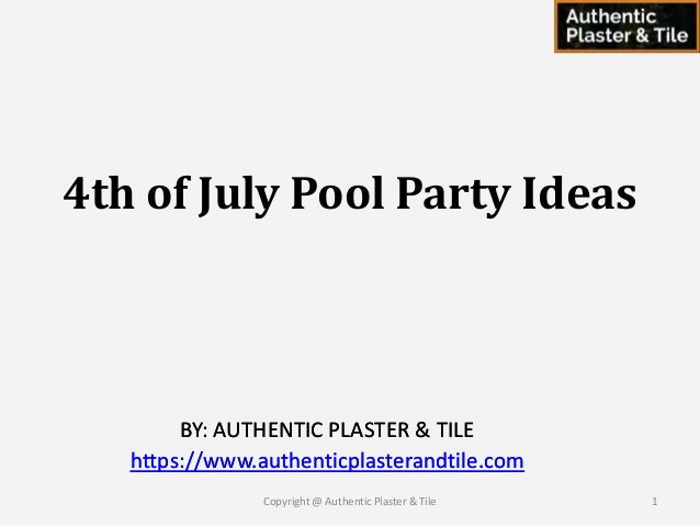 4th Of July Pool Party Ideas