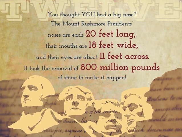 13 little known facts about the u s a for Mount rushmore history facts