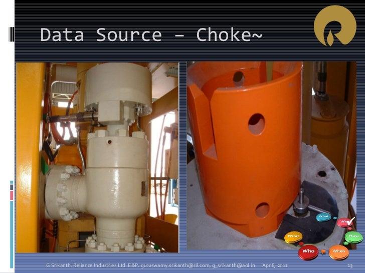 Data Source – Choke~ Apr 8, 2011 G Srikanth. Reliance Industries Ltd. E&P. guruswamy.srikanth@ril.com, g_srikanth@aol.in 
