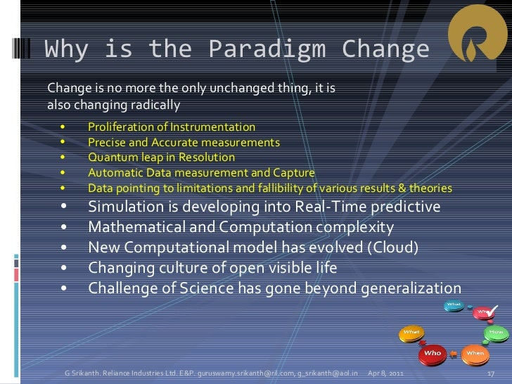 <ul><li>Change is no more the only unchanged thing, it is also changing radically </li></ul>Why is the Paradigm Change  A...