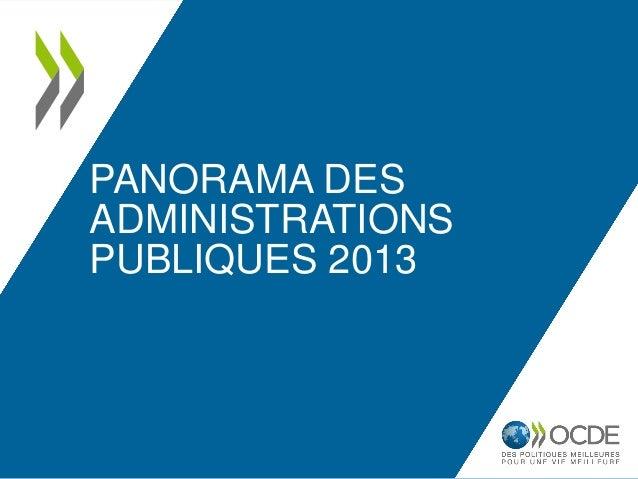 PANORAMA DES ADMINISTRATIONS PUBLIQUES 2013
