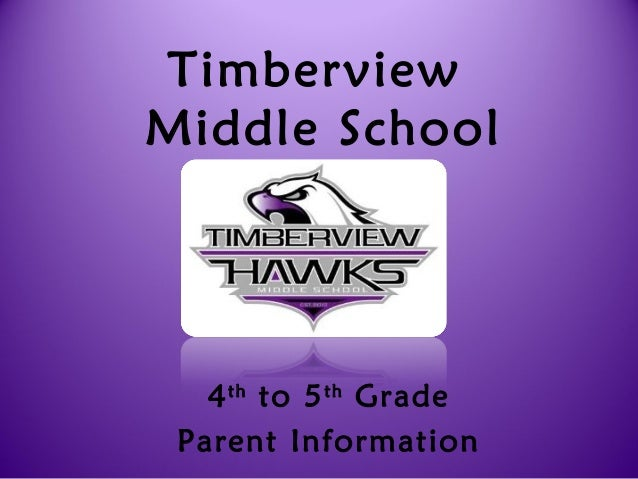 TimberviewMiddle School4thto 5thGradeParent Information