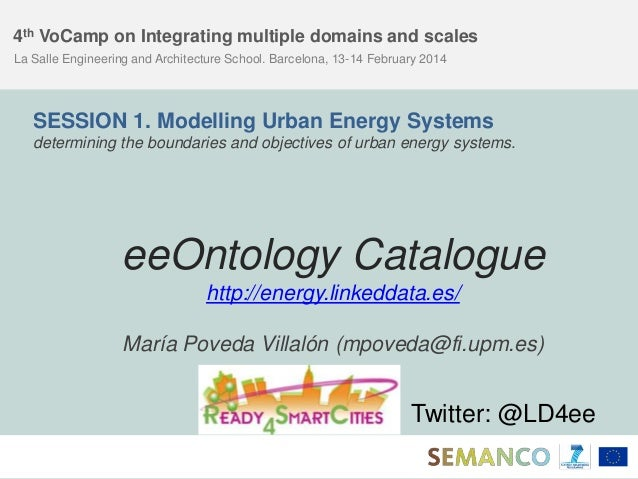 4th VoCamp on Integrating multiple domains and scales La Salle Engineering and Architecture School. Barcelona, 13-14 Febru...
