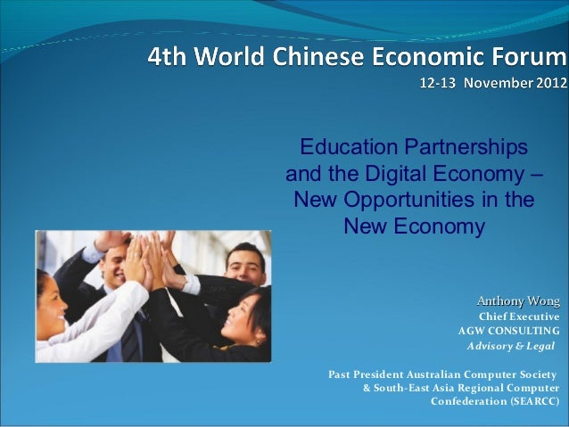 Education Partnershipsand the Digital Economy – New Opportunities in the      New Economy                              Ant...