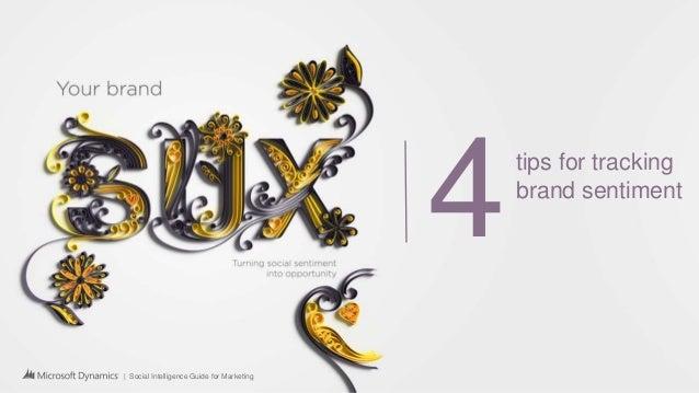| Social Intelligence Guide for Marketing 4tips for tracking brand sentiment