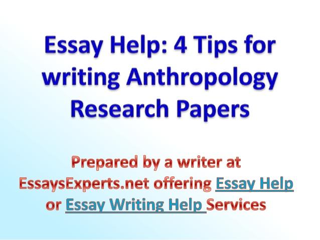 Anthropology dissertation outline