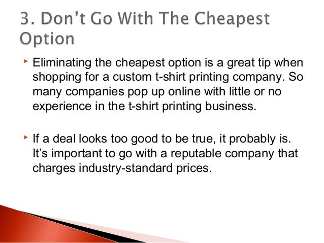 4 tips to choosing a custom t shirt printing company for How to start t shirt printing business