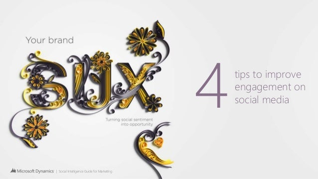 | Social Intelligence Guide for Marketing 4tips to improve engagement on social media