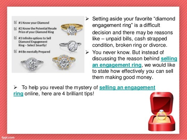 4 TIPS TO SELL DIAMOND ENGAGEMENT RING ONLINE Presented by DS Design Inc  2 4 tips to sell diamond engagement ring online. Sell Wedding Ring Online. Home Design Ideas
