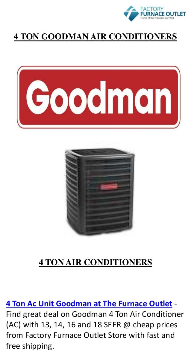 4 Ton Ac Unit Goodman