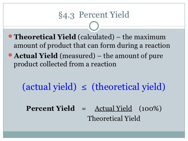 Sample Determining theoretical yield