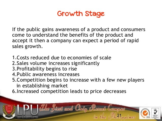 21 If the public gains awareness of a product and consumers come to understand the benefits of the product and accept it t...