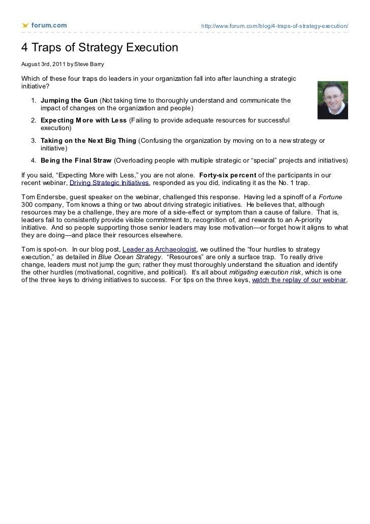 forum.com                                                  http://www.forum.com/blog/4-traps-of-strategy-execution/4 Traps...