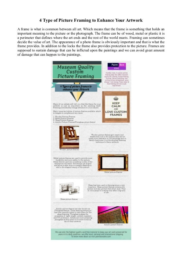 Museum Quality Custom Picture Framing Services