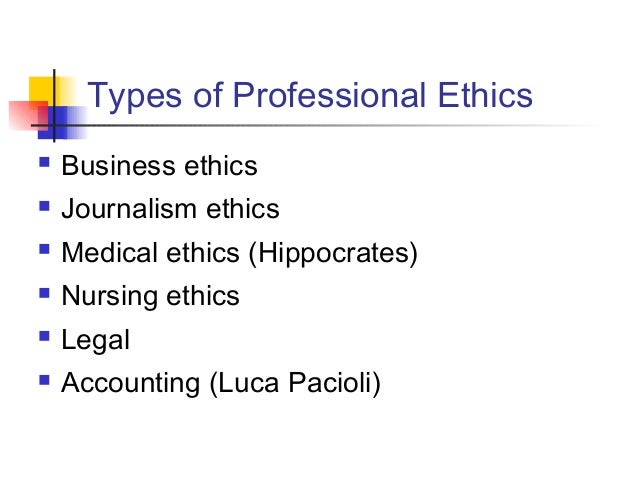 professional ethics in journalism Journalism ethics is a species of applied (professional) ethics it is the application and evaluation of the principles and norms that guidejournalism practice, with.