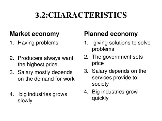 centrally planned economy characteristics