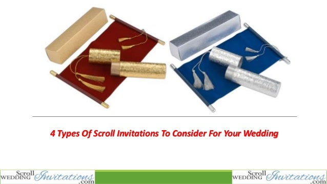4 types of scroll invitations to consider for your wedding