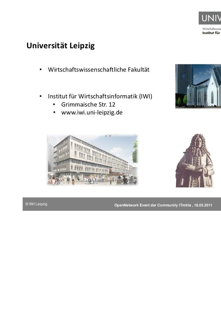Universität Leipzig        • Wirtschaftswissenschaftliche Fakultät        • Institut für Wirtschaftsinformatik (IWI)      ...