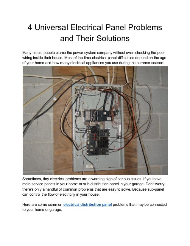 4 universal electrical panel problems and their solutions (1)  slideshare