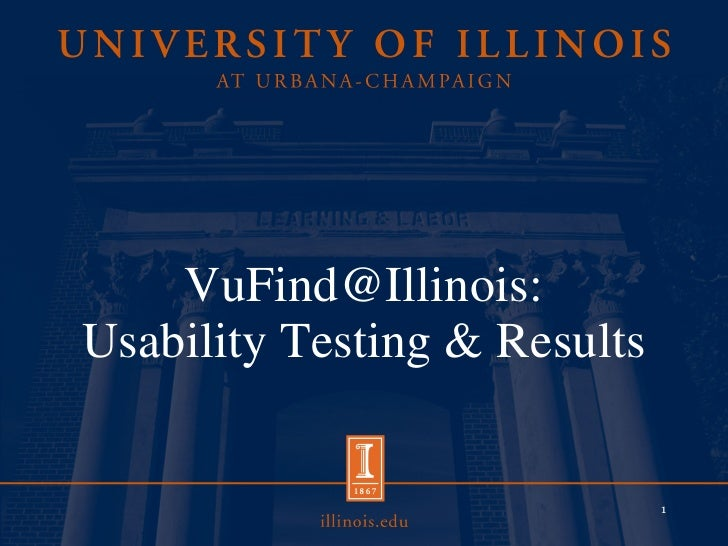 VuFind@Illinois: Usability Testing & Results