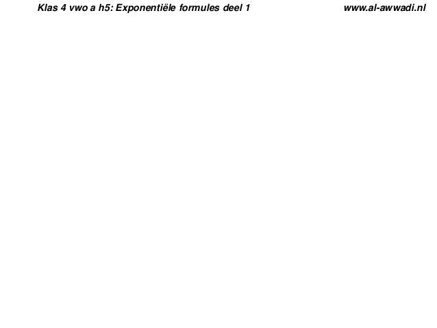 Klas 4 vwo a h5: Exponentiële formules deel 1  www.al-awwadi.nl