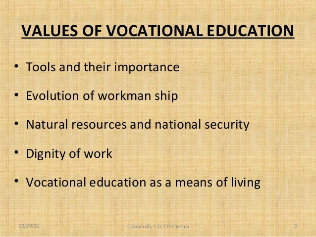 importance of vocational training