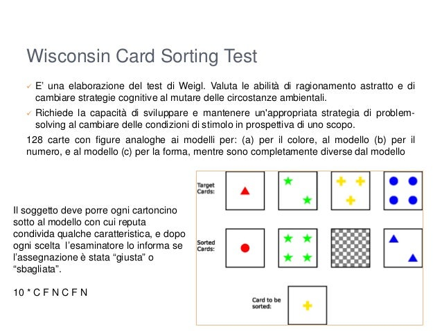 ie349 card sorting experiment Author information: (1)university of luxembourg, luxembourg jean-paul steinmetz@zithalu the commercially available wisconsin card sorting test ( wcst).