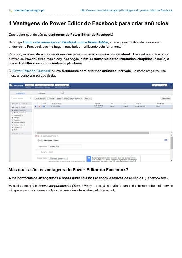 communitymanager.pt http://www.communitymanager.pt/vantagens-do-power-editor-do-facebook/ 4 Vantagens do Power Editor do F...