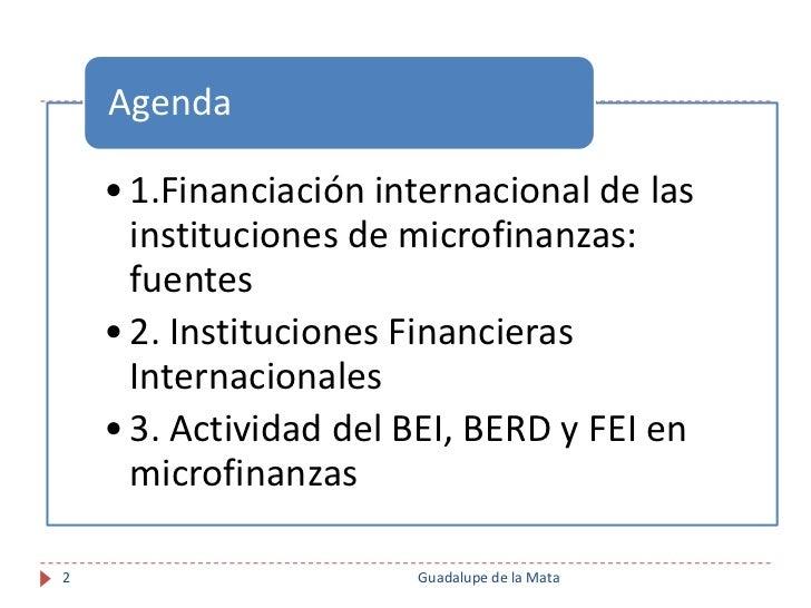 Financiación Internacional para Instituciones de Microfinanzas. Proceso de Due Diligence Slide 2