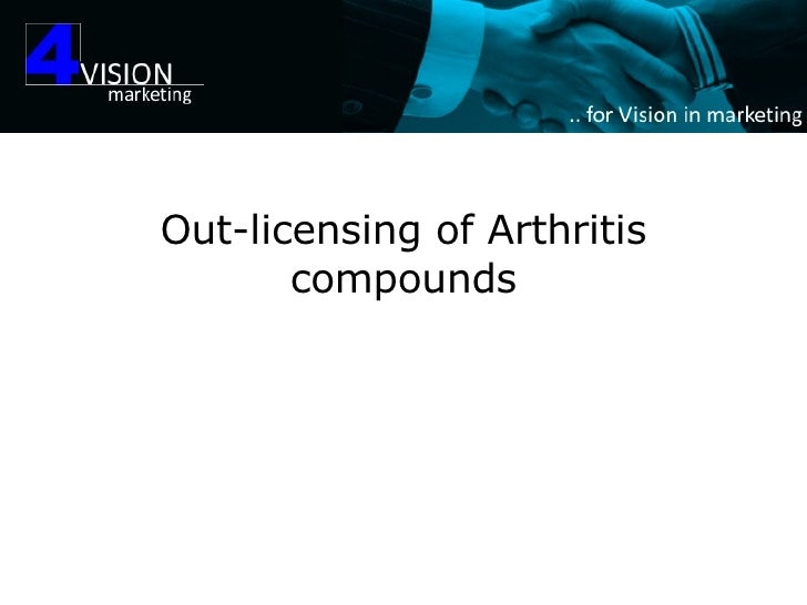 Out-licensing of Arthritis compounds