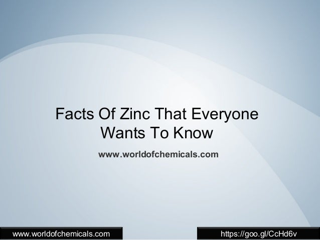 4 vital things about zinc that you should know facts of zinc that everyone wants to know worldofchemicals worldofchemicals urtaz Images