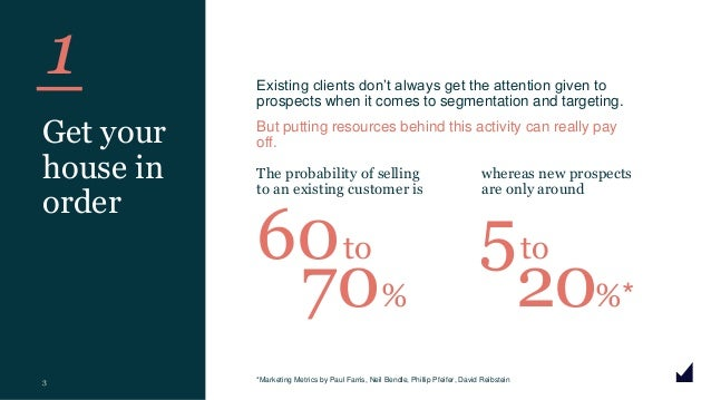 © The Marketing Practice 2020 1 3 Get your house in order Existing clients don't always get the attention given to prospec...