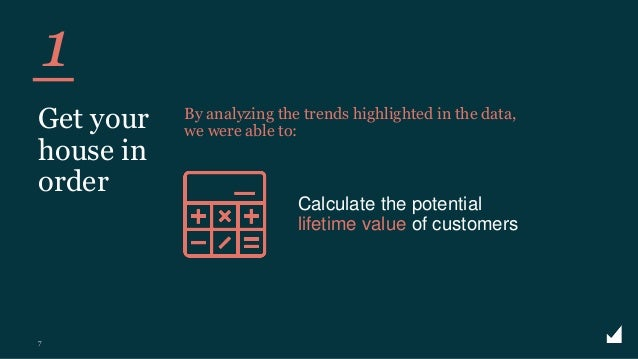 © The Marketing Practice 2020 Calculate the potential lifetime value of customers 1 7 Get your house in order By analyzing...