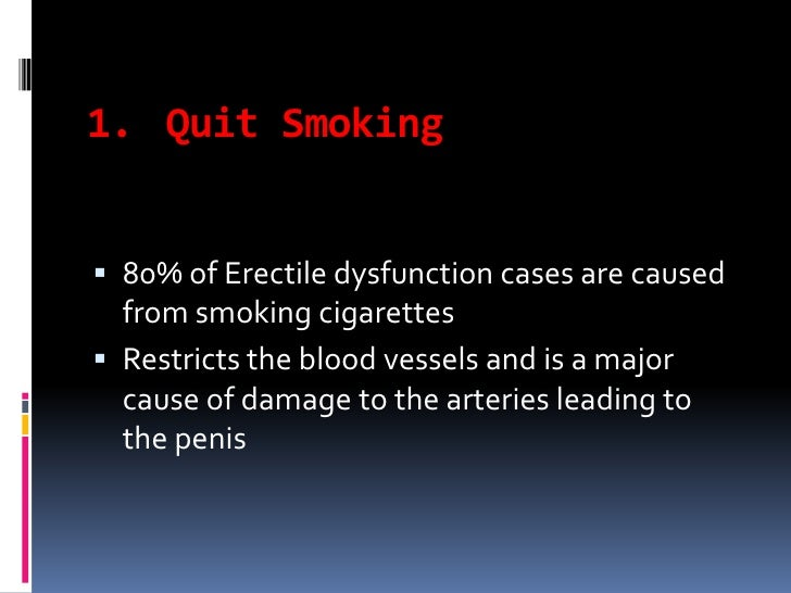 quitting smoking improves erectile dysfunction