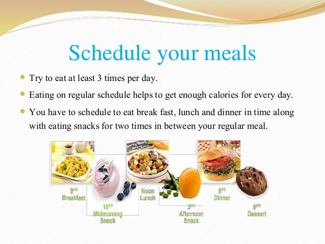 4 ways to gain healthy weight 3 schedule your meals forumfinder Choice Image
