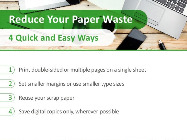Reduce Your Office Paper Waste with 4 Quick and Easy Steps
