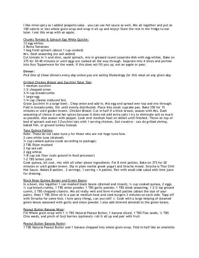 fitnessblender 4 week meal plan pdf