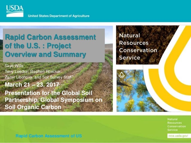 Rapid Carbon Assessment of the U S : Project Overview and