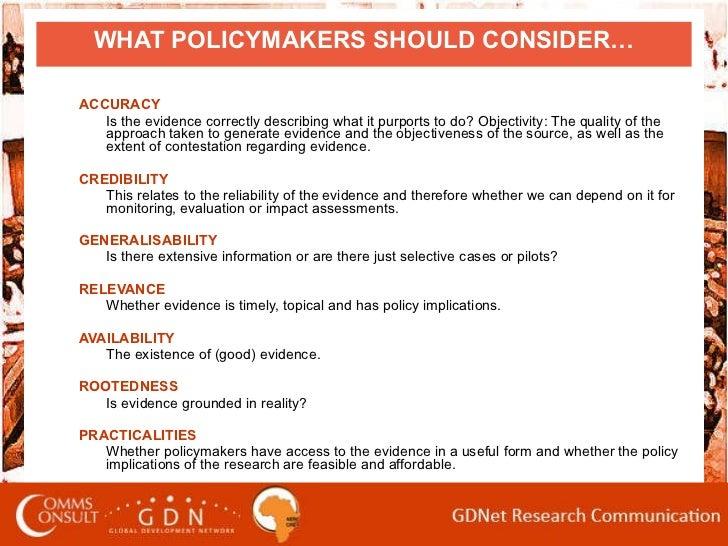 Writing Policy Briefs, AERC Workshop, 2010 Slide 3