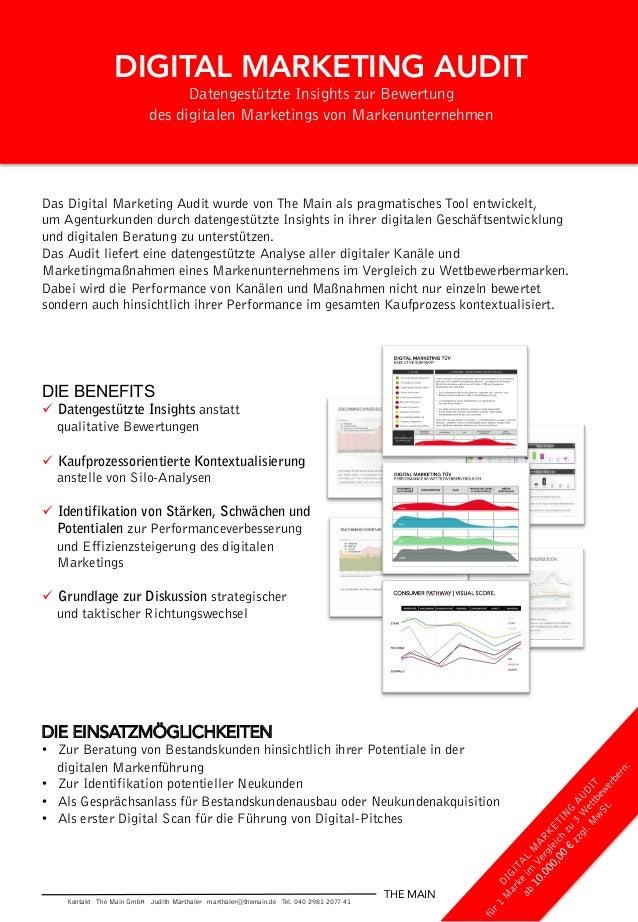 DIGITAL MARKETING AUDIT Datengestützte Insights zur Bewertung des digitalen Marketings von Markenunternehmen Das Digital M...