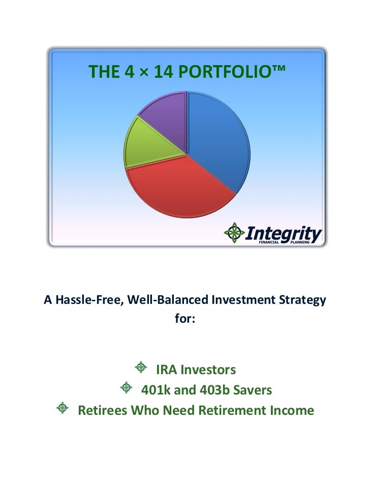 A Hassle-Free, Well-Balanced Investment Strategy                       for:                 IRA Investors               40...