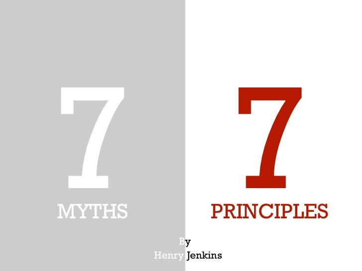 transmedia and its 7 principles jenkins A transmedia story unfolds across multiple media platforms -jenkins, 7 principles revisited term auteur theory: definition author gives value definition knowledge communities that work to understand a text - henry jenkins (transmedia storytelling 101,) coined by pierre levy term.
